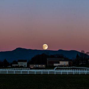 Super Moon over Mt Mansfield