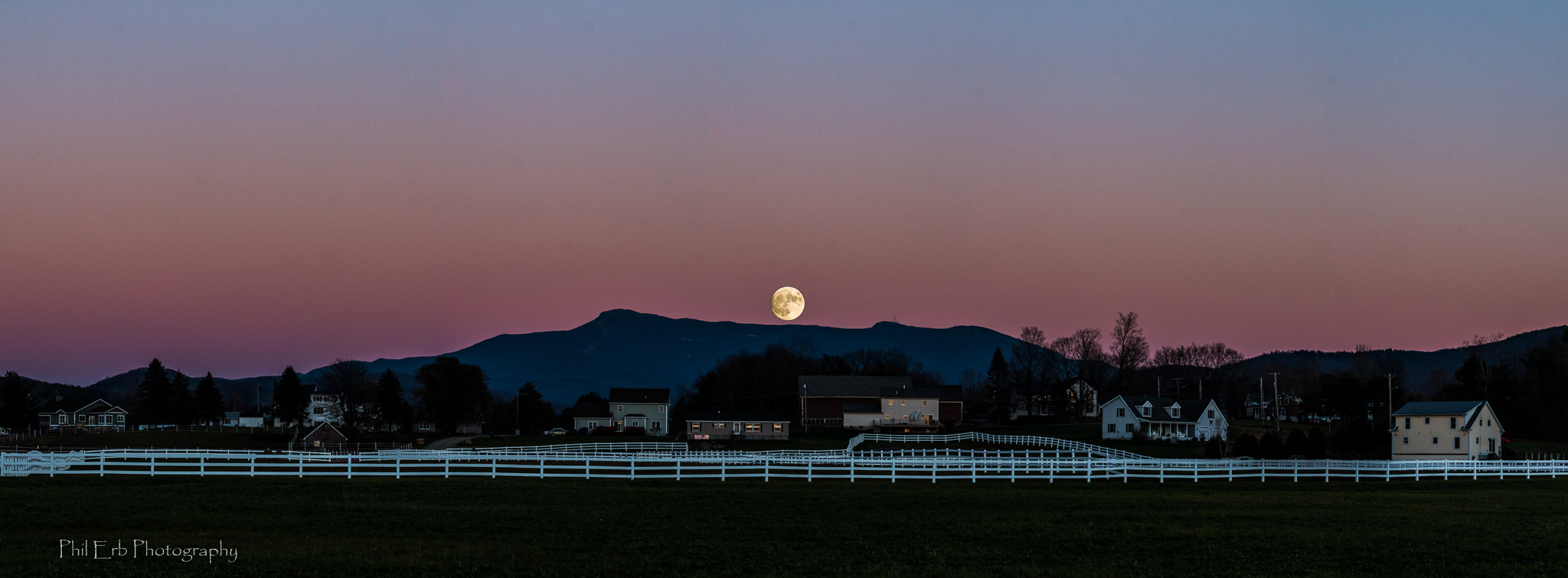 Super Moon over Mt Mansfield