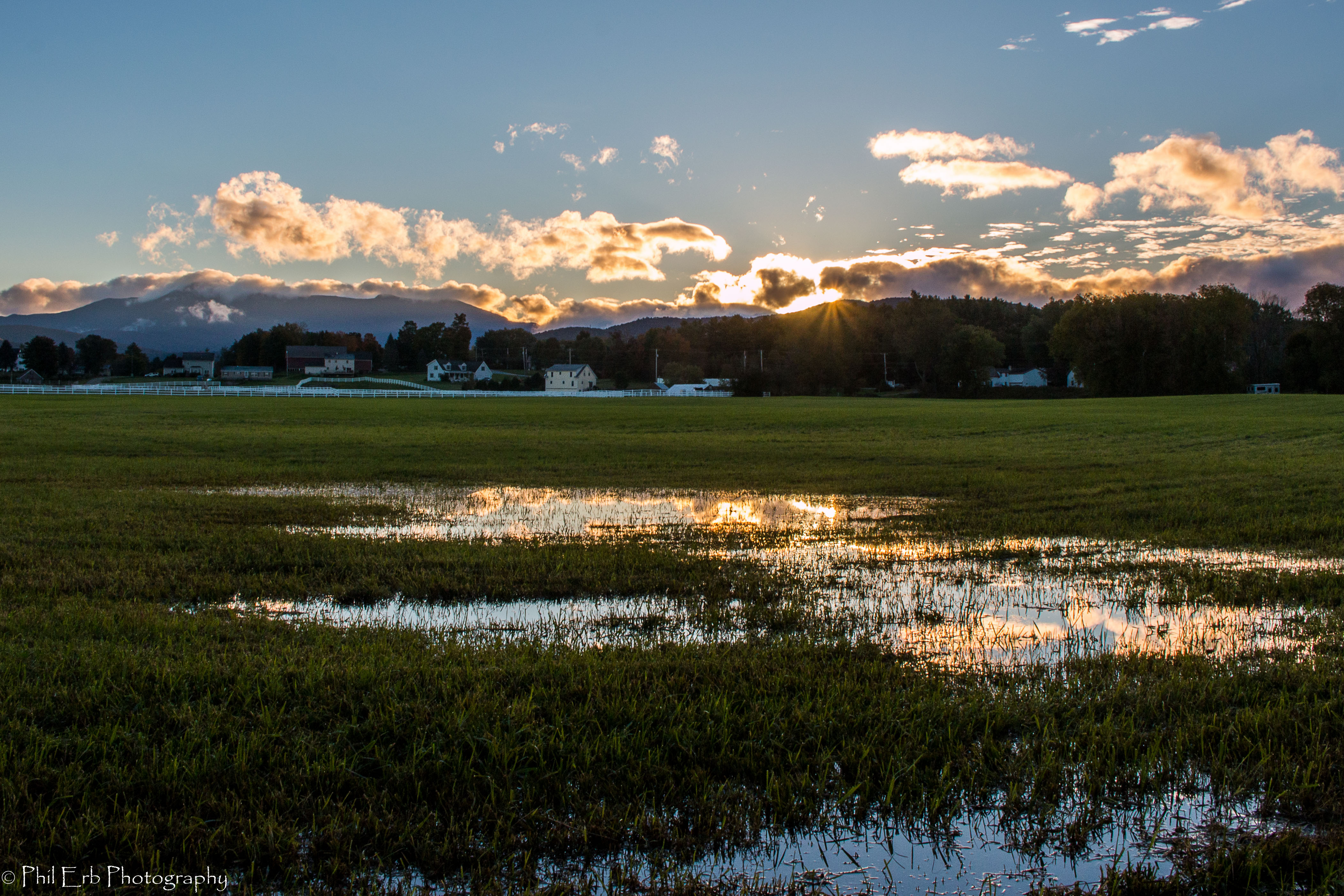 Suns Rays Over Mt Mansfield Phil Erb Photography