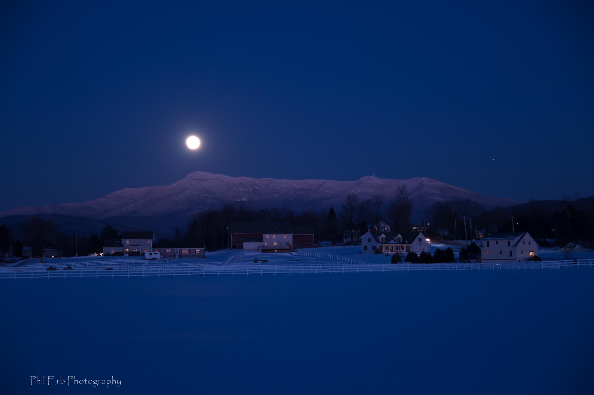 Snowy Moonrise